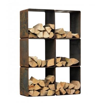 Houtopslag kubus 6 stuks